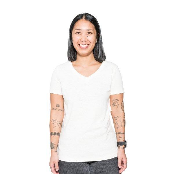 T-shirt de chanvre pour femme